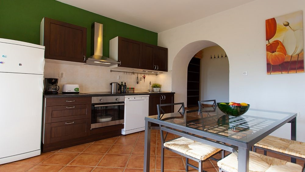 Apartment Motovun kitchen and dining area