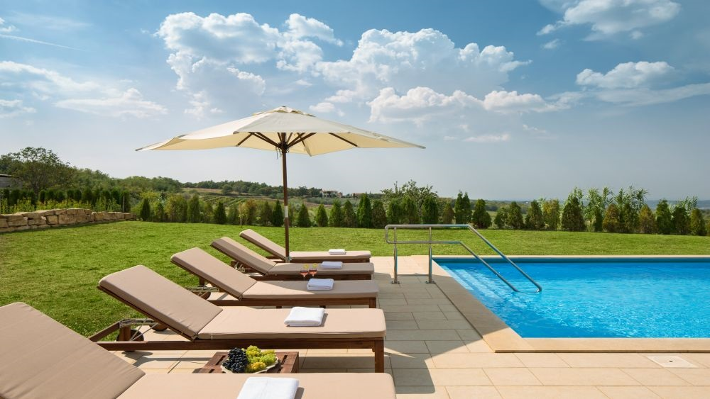 Exclusive villa Istria pool terrace