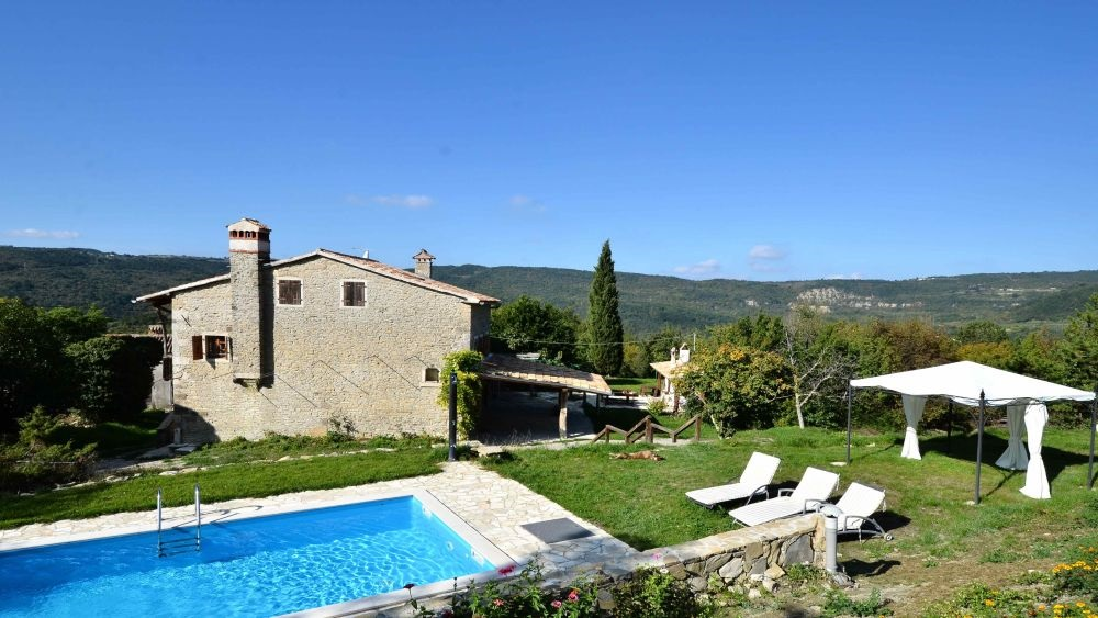- rustic style villa with pool
