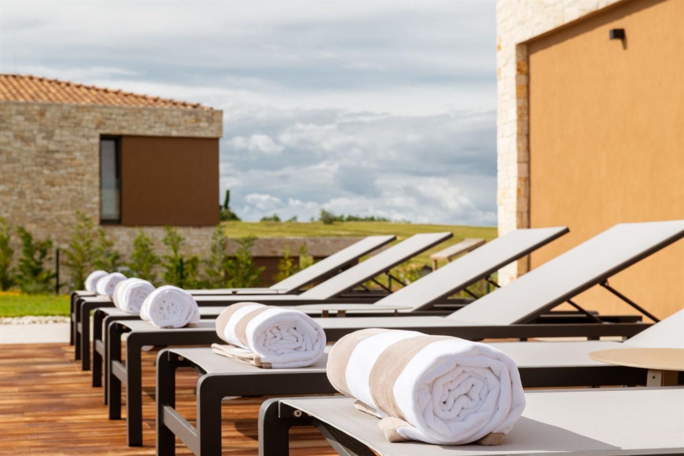 Sunbathing and pool