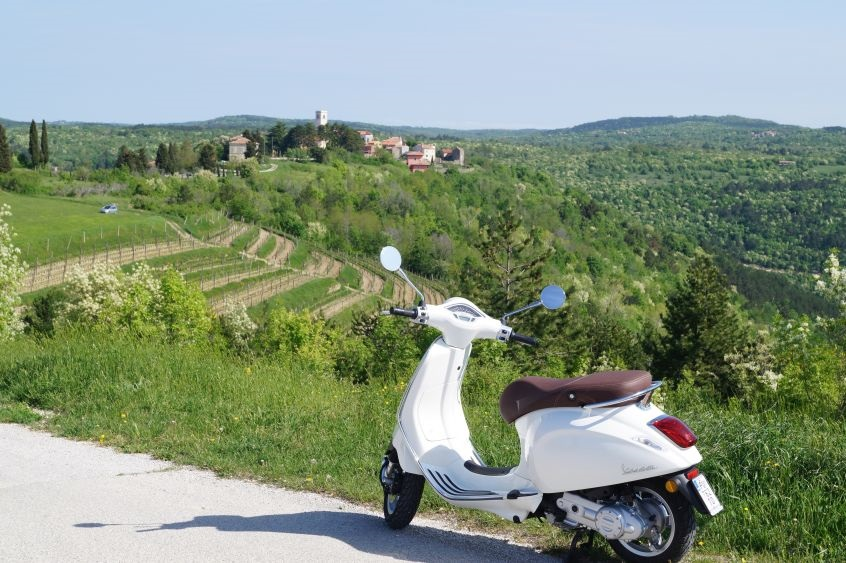 Vespa tour Istra detail