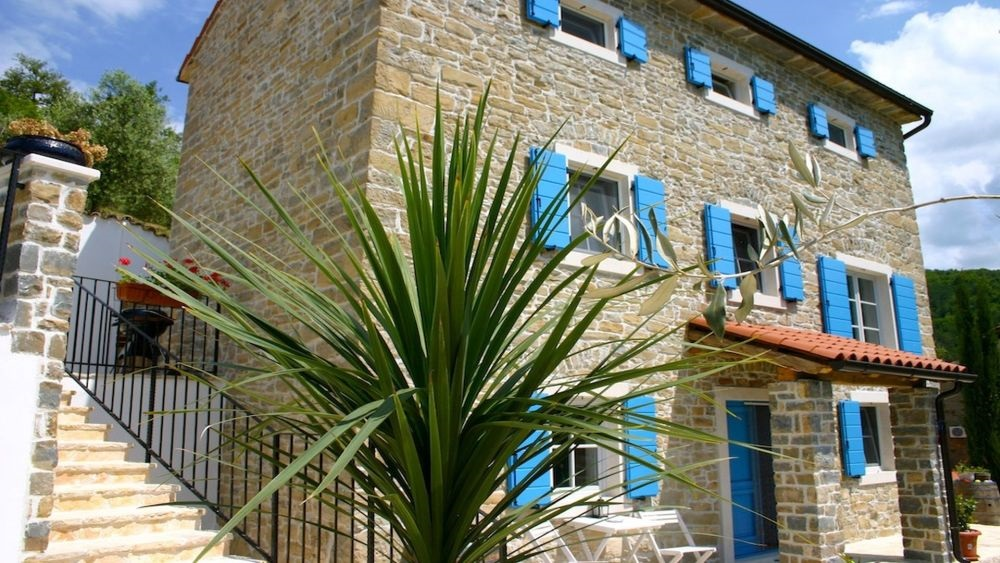 - stone holiday home rustic style