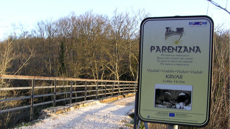 Parenzana Krvar bridge