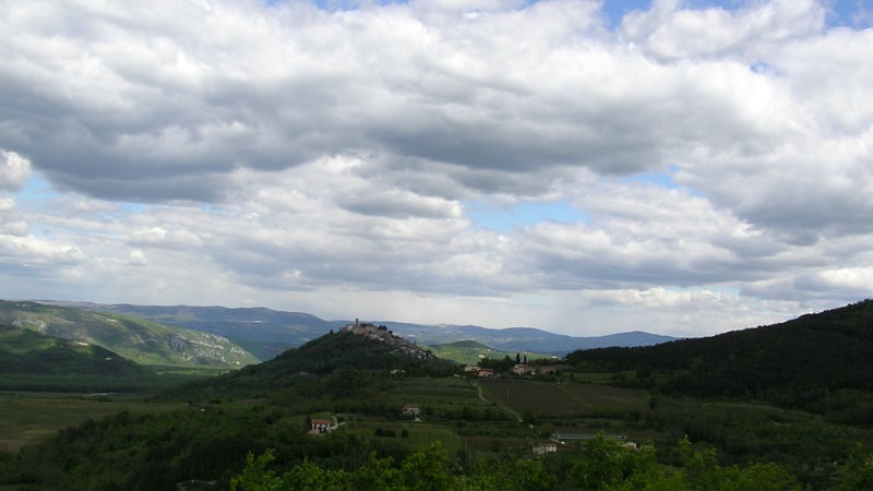 Parenzana  View to Motovun